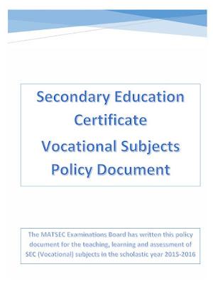 Career Guidance Malta: Secondary Education Certificate Vocational ...