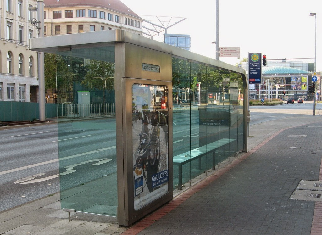 Hanover City Bus Stop designed by Jasper Morrison