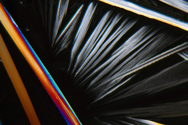 Carbamide under the microcope and in polarized light