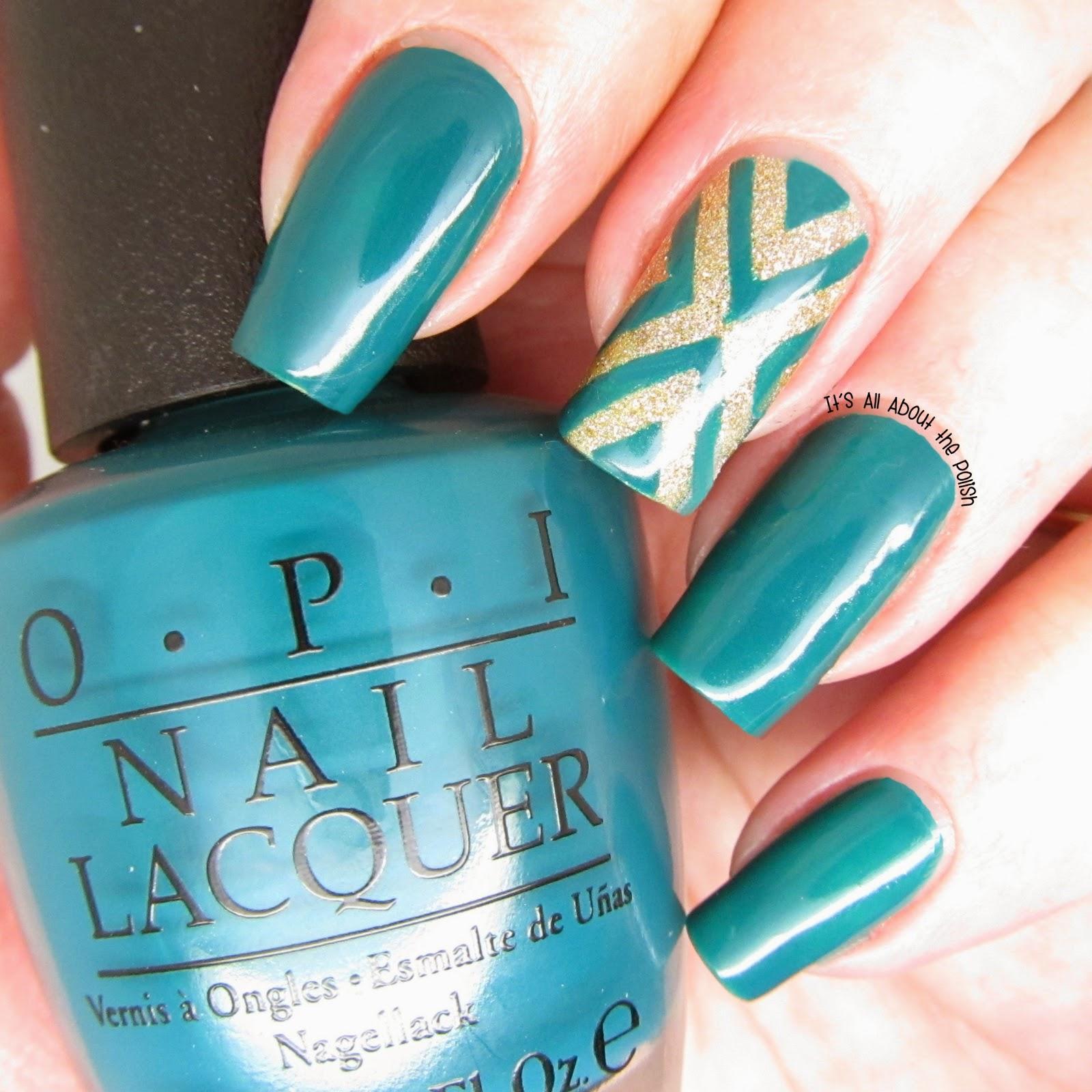It\'s all about the polish: OPI Amazon...Amazoff - X nail design