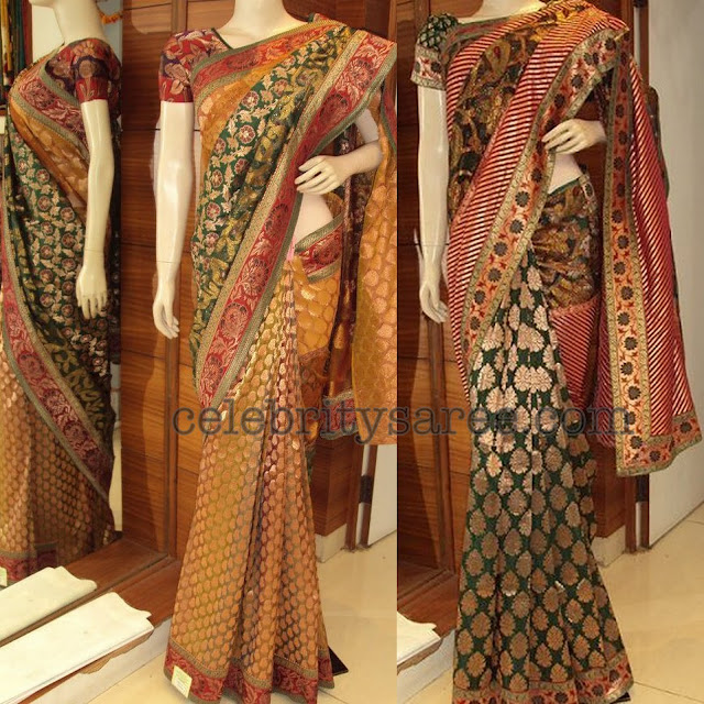 Multi Color Banaras Sarees