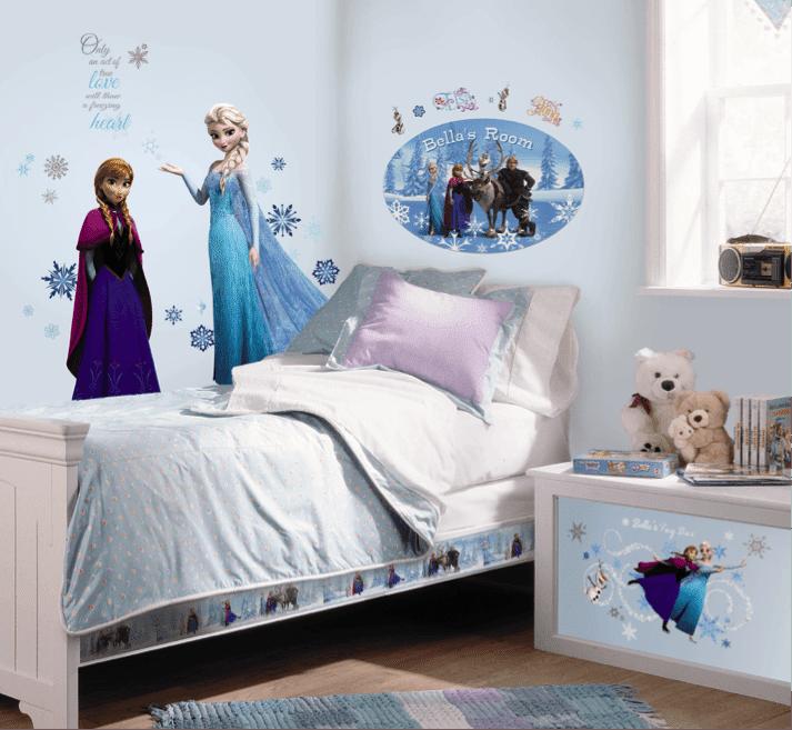 Dormitorios para ni as tema frozen dormitorios colores y for Cuartos para ninas frozen