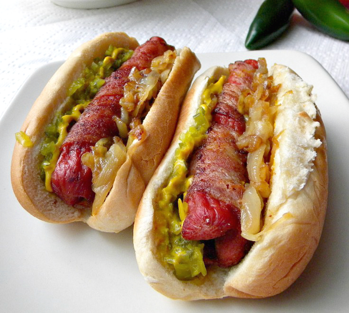 cleo coyle tips on bacon wrapped hot dogs a tribute to our good men. Black Bedroom Furniture Sets. Home Design Ideas
