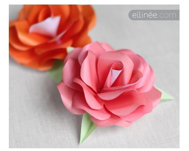 comment faire une rose en papier comment faire une rose en papier tres facile youtube origami. Black Bedroom Furniture Sets. Home Design Ideas