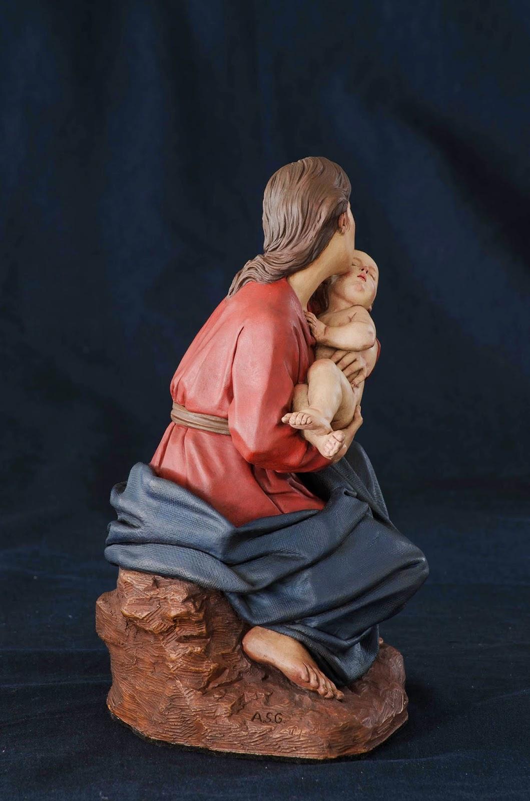 Nacimiento Belén Nativity presepe krippe Arturo Serra Barro cocido 29
