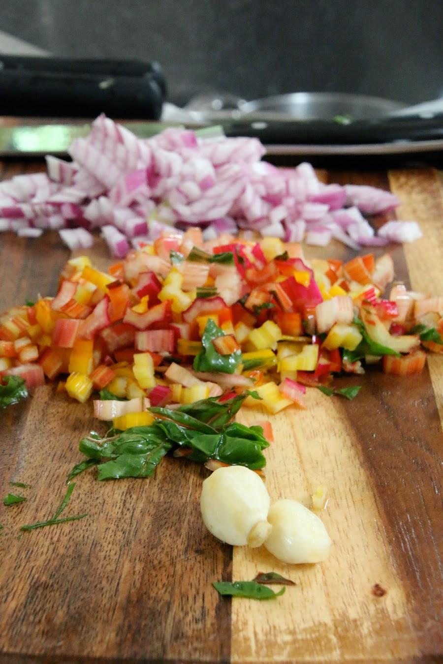 Lemony Rainbow Chard Pasta