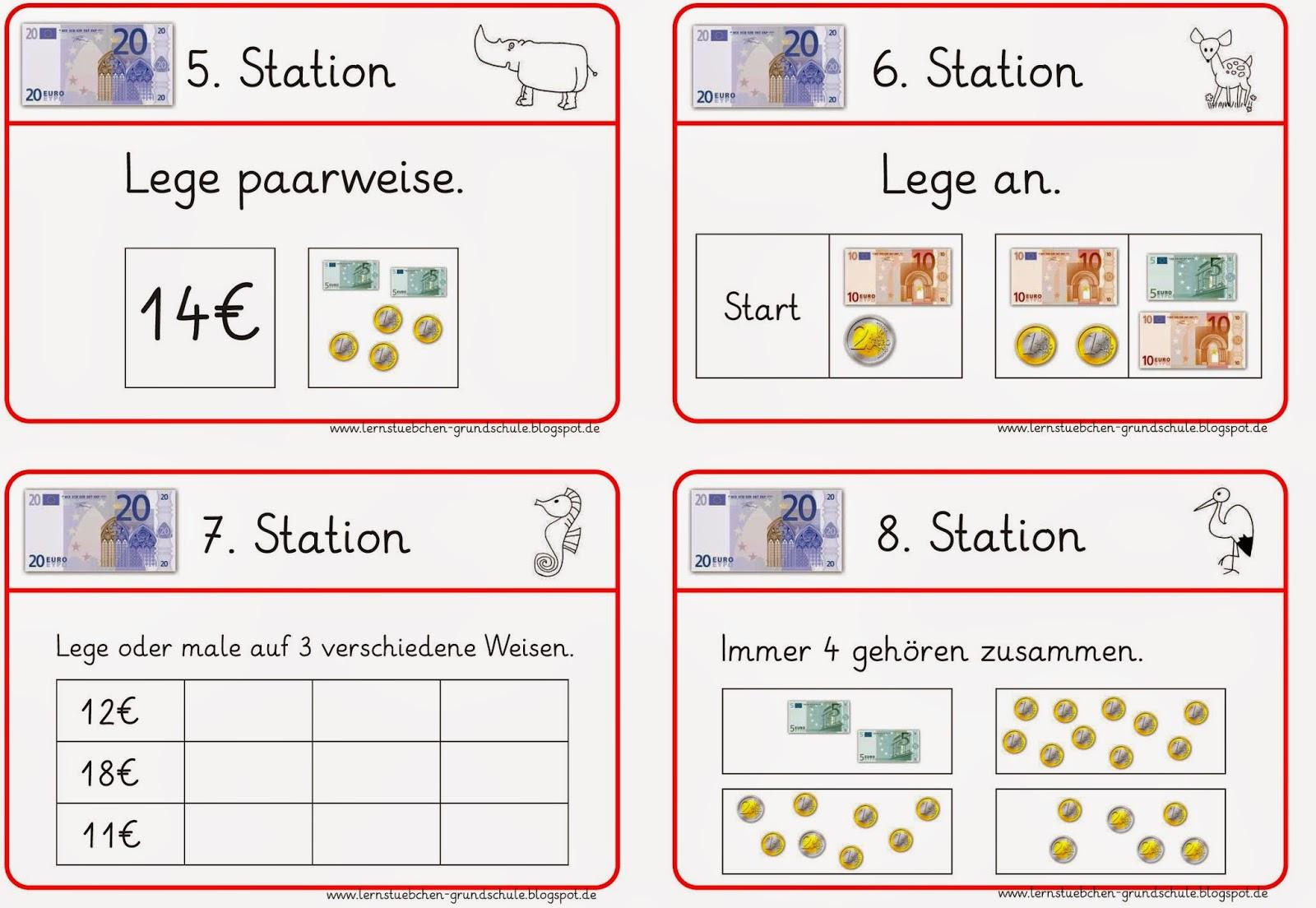 Lernstübchen: Stationsarbeit zum Geld (2)