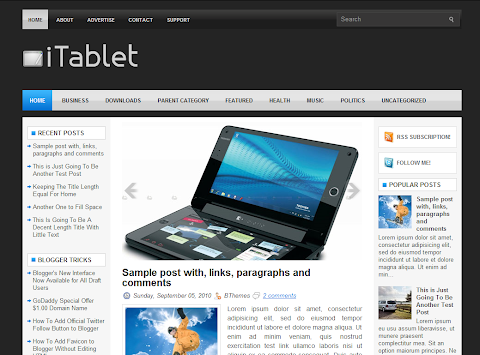 iTablet Blogger Theme