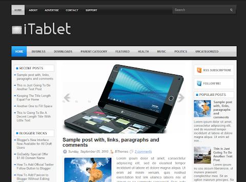 iTablet Blogger Theme