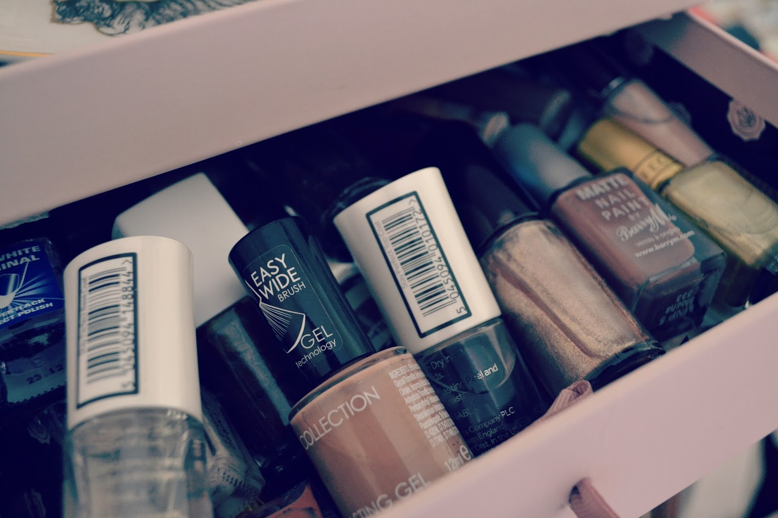 glossybox drawers nail polish storage