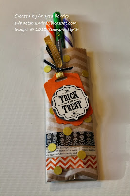 Halloween treat bag made with Tag a Bag gift bags.