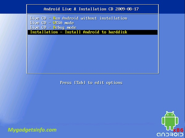 Android OS 4.2 PC Installation Guide