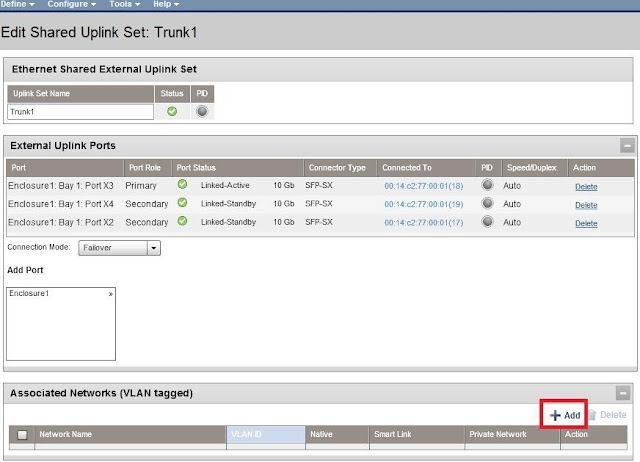 Add new VLANs to existing trunk
