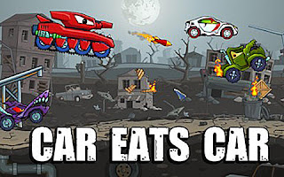 Screenshots of the Car Eats Car for Android tablet, phone.