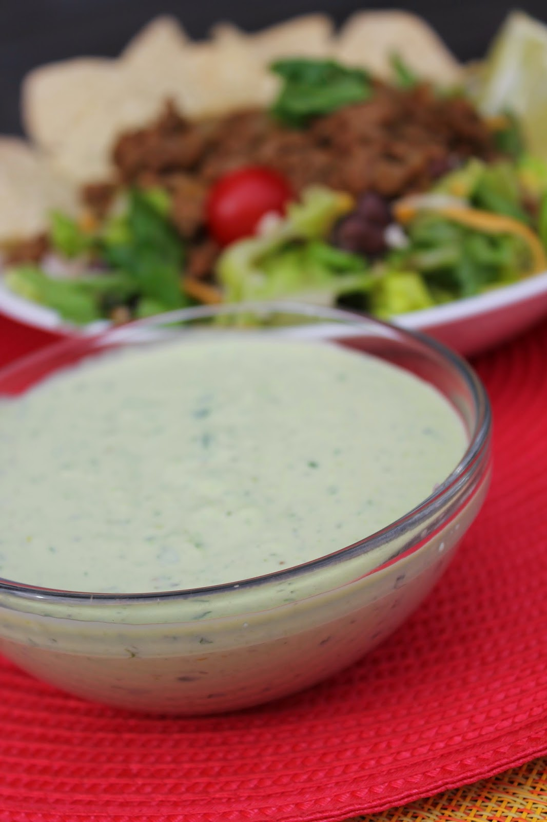 Creamy Avocado Dressing, taco salad, Recipe: Salad, Recipe: Oil ...