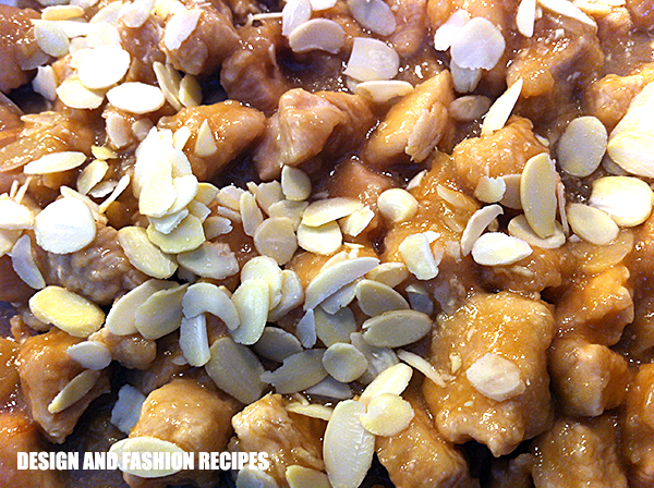 Chicken with almonds recipe on Design and fashion recipes