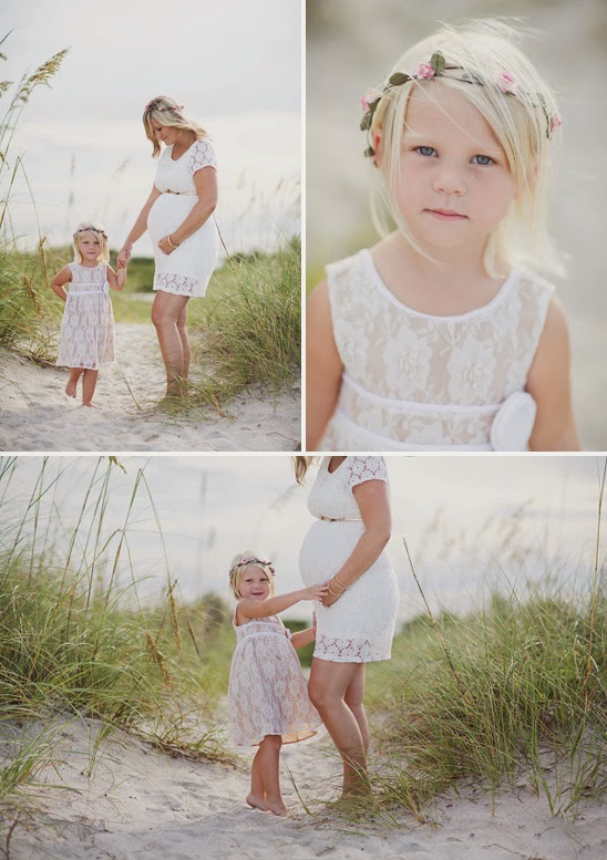 Family Beach Maternity Session