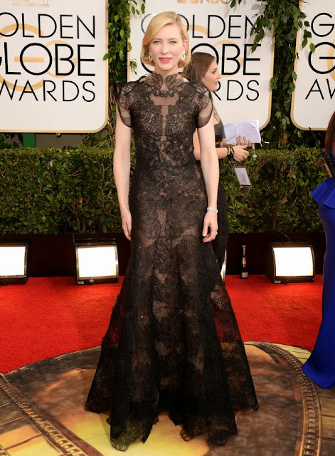 Cate Blanchett in Armani Prive at the Golden Globes