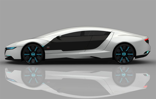 Side view picture of Audi A9