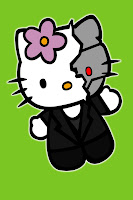 Hello Kitty in Terminator costume