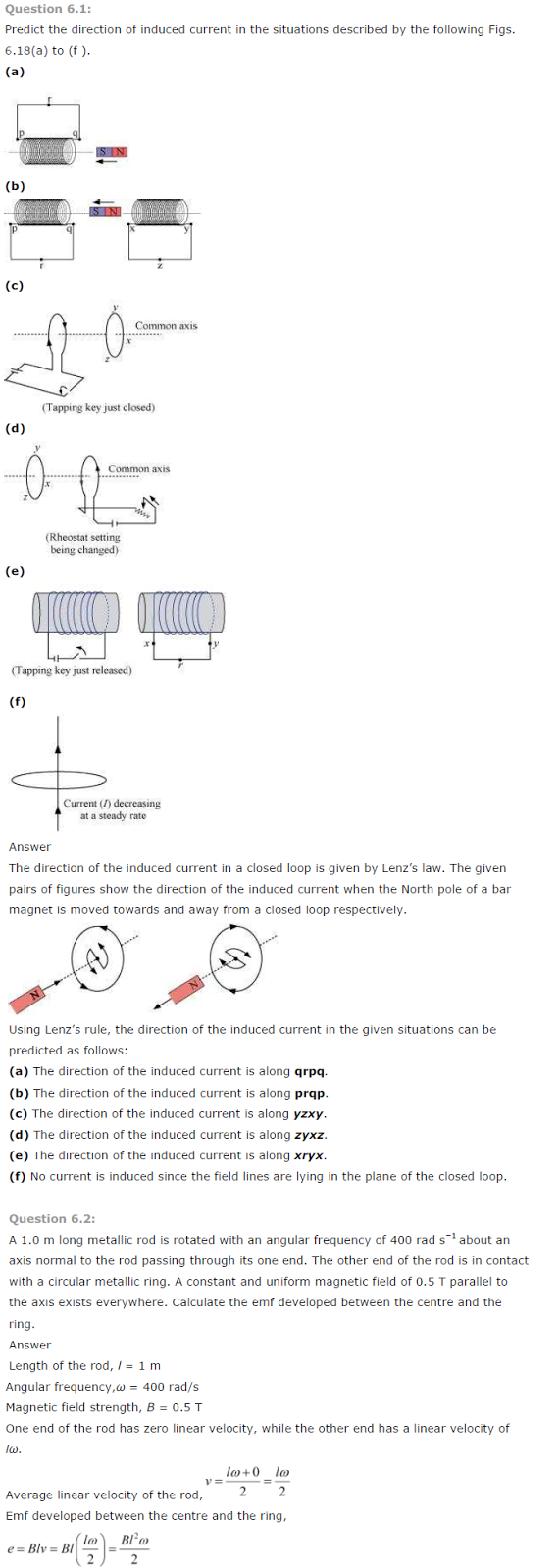 NCERT Solution for Class 12 Physics Chapter 6