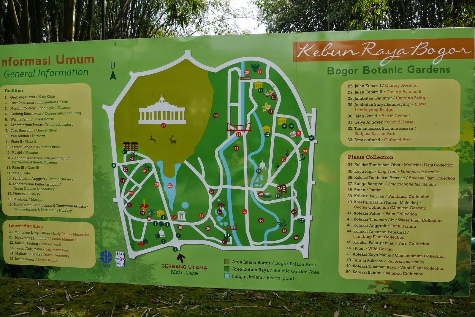 Kebun Raya Bogor Peta