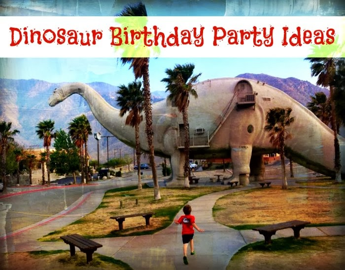 ... pit stop that fueled the idea for a dinosaur themed birthday party