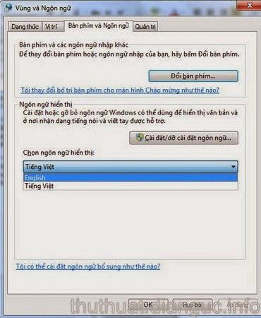 Hướng dẫn cách cài đặt ngôn ngữ tiếng Việt cho windows 7