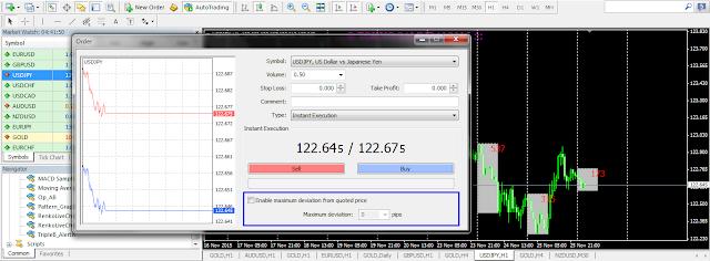 Mencegah Requote Dengan Memanfaatkan Fungsi Enable Maximum Deviation From Quote Price