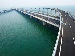China inaugurou a maior ponte sobre o mar do mundo