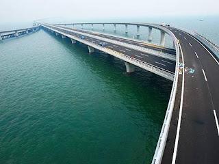 China inaugurou a maior ponte sobre o mar do mundo