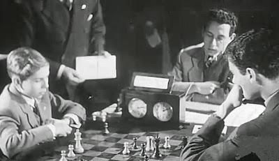 Partida Pomar-Ribeiro en el II Encuentro Ibérico de Ajedrez 1946