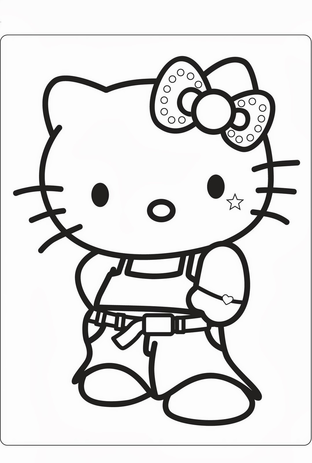 Immagini da colorare di hello kitty for Disegni da colorare hello kitty