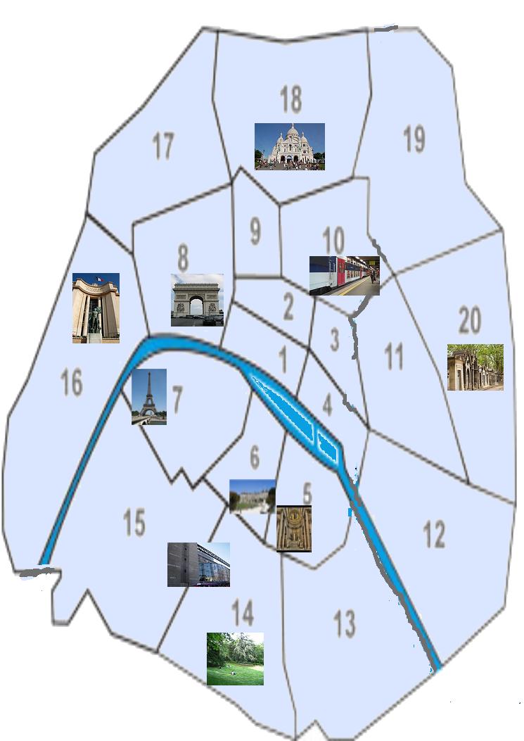 paris plan arrondissement. paris map arrondissements.
