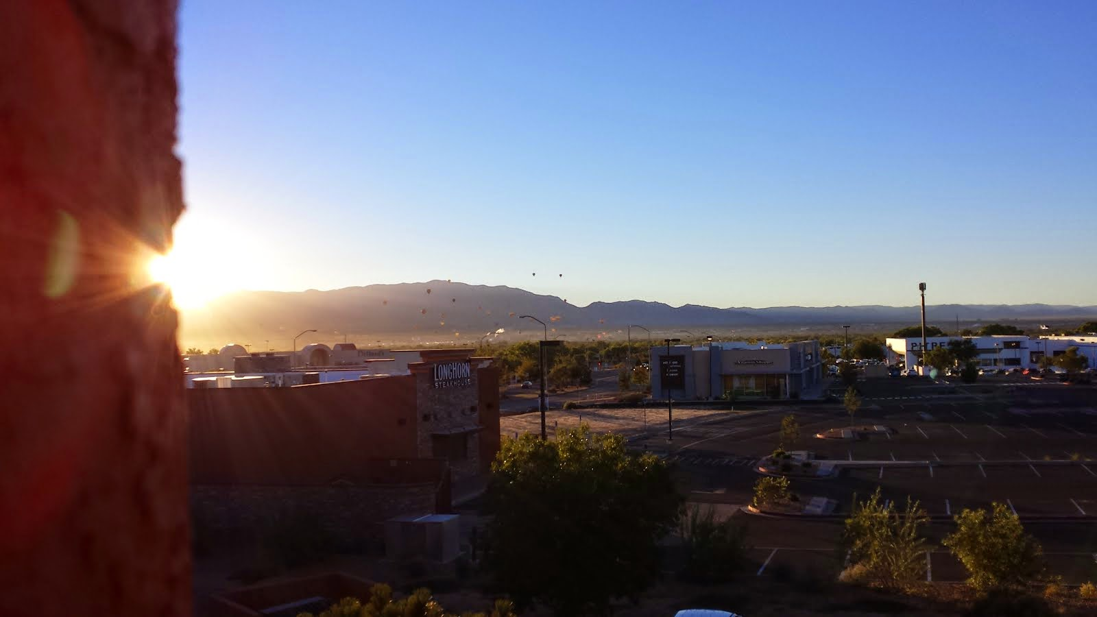 Our view of Albuquerque...