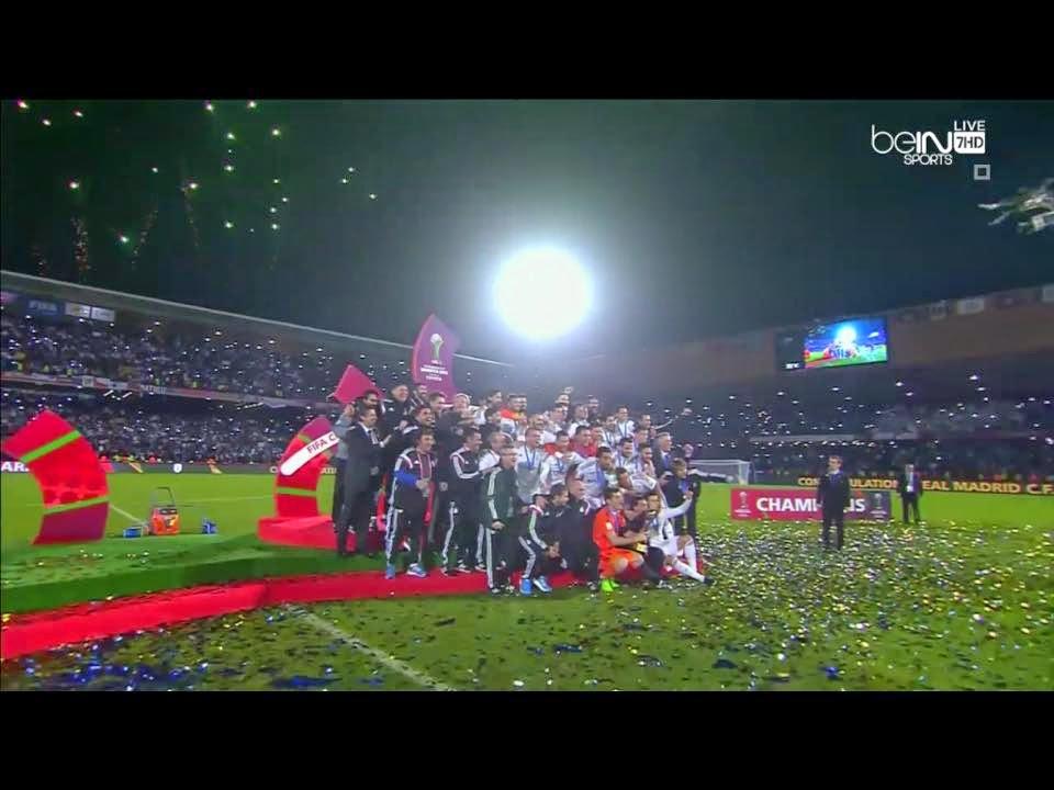 صور تتويج ريال مدريد لاول مرة بكاس العالم للاندية بالمغرب 2014