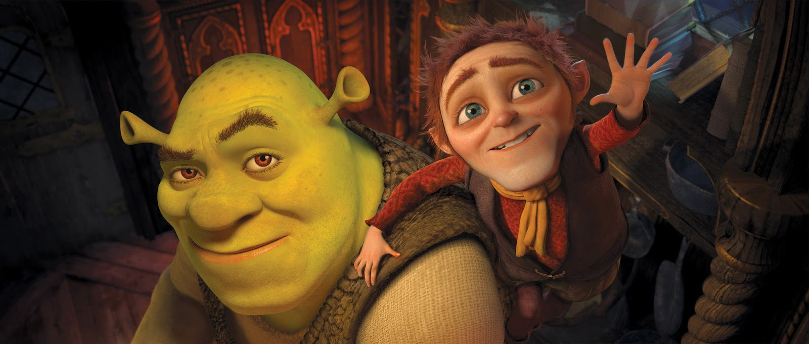 Shrek and Rumpelstiltskin