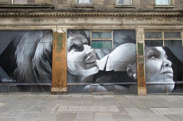 Street Art By Guido Van Helten On The Streets Of Edinburgh, Scotland. 2