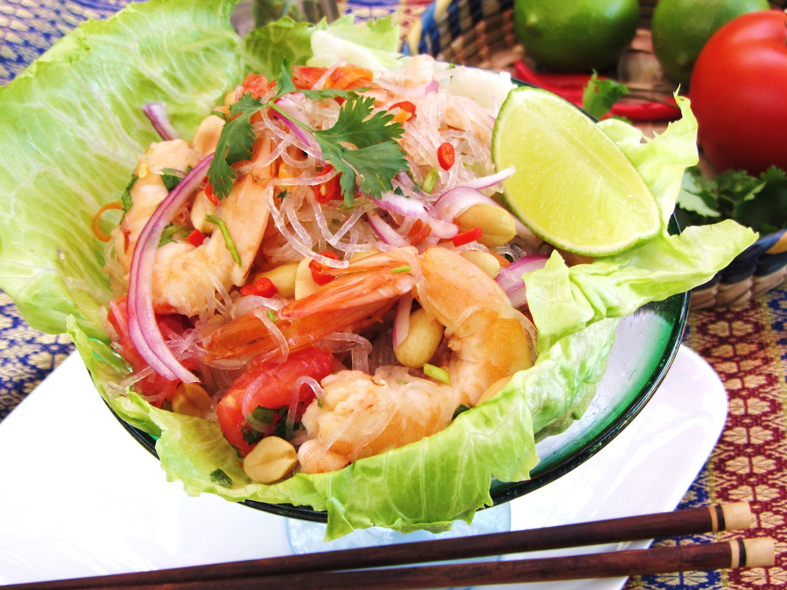 simple!: Yum-Woon-Sen Goong /Thai Spicy Glass Noodle Salad with Shrimp ...