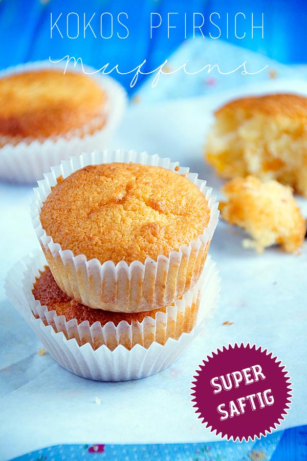 Kokos Pfirsich Muffins mit Muffin Grundrezept, spoonandkey Blog