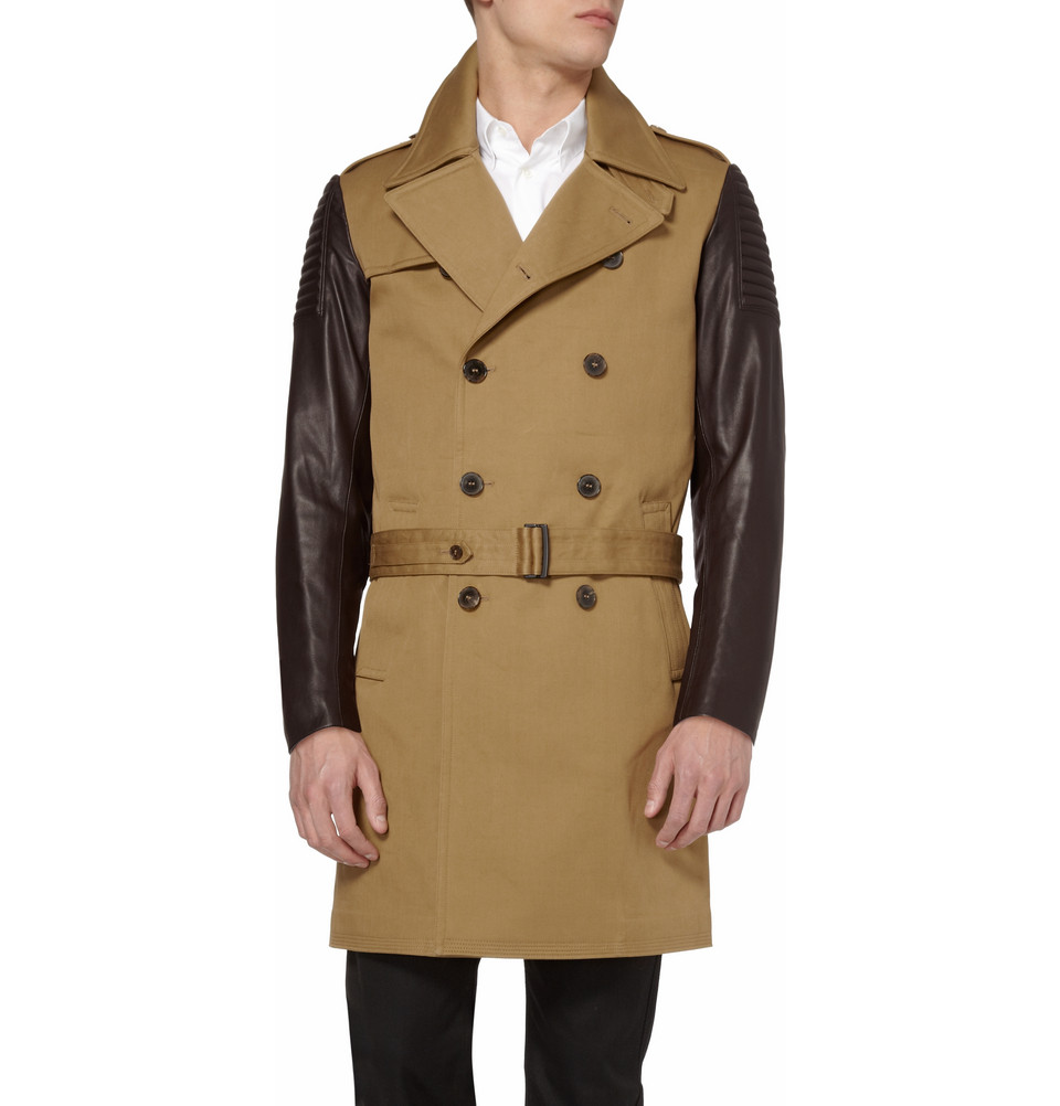 prada leather trench