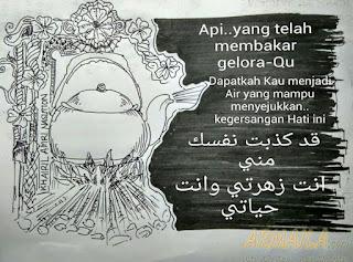 armaila.com - Lukisan Karya Khairil Amri Nasution - api yang membakar gelora
