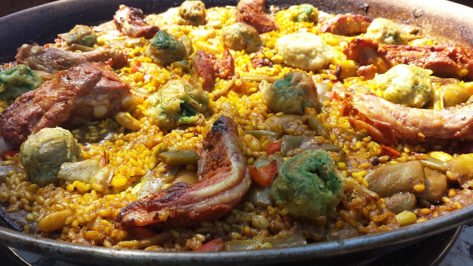 Las comidicas de mamen arroz en paella con costillas adobadas - Arroz con verduras y costillas ...
