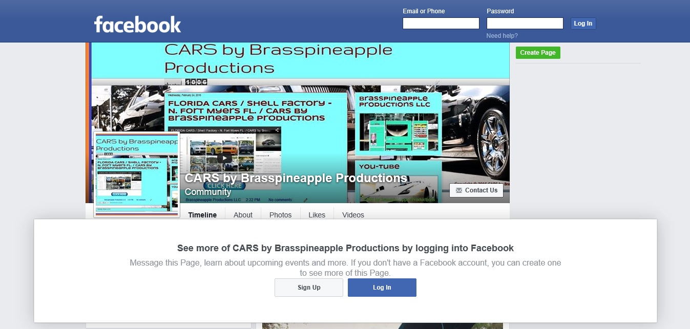CARS by Brasspinepple Productions FACEBOOK