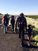 Dine' Walkers at Sunset Crater as Third Part of Journey Begins