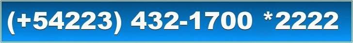 Mar del Plata,  llamanos Movistar (0223) 15-615-0555 o al Telefono (0223) 432-1700 interno 5411511