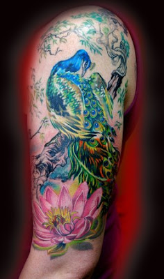 Peacock Hand Tatto Design-Best Tattoos Collection