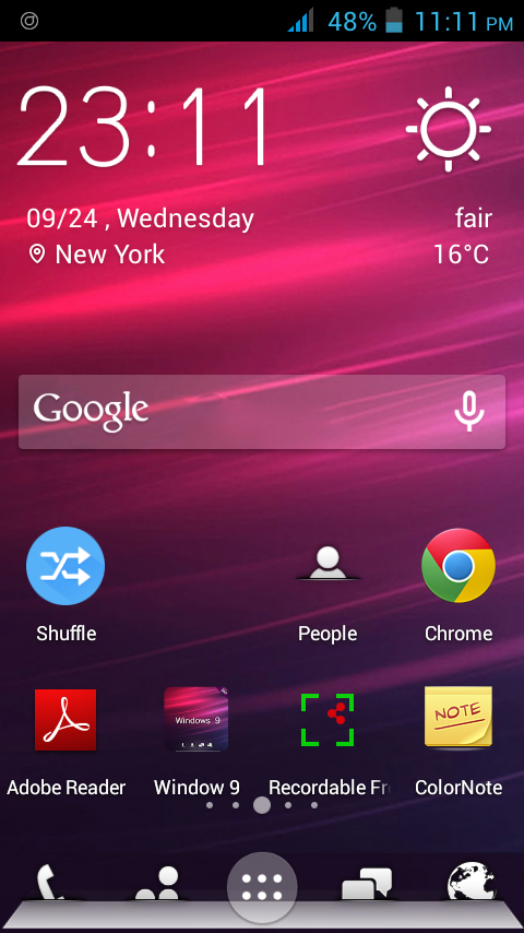 Windows 9 Theme for Android Phone Screenshots