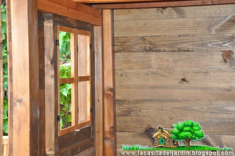 D a 24 ventanas y contras la casita del jard n - Hacer una ventana de madera ...