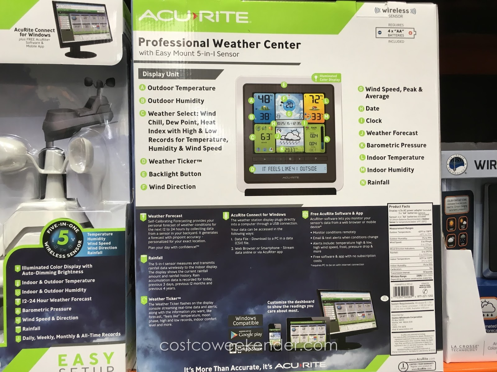 acurite professional weather center costco weekender